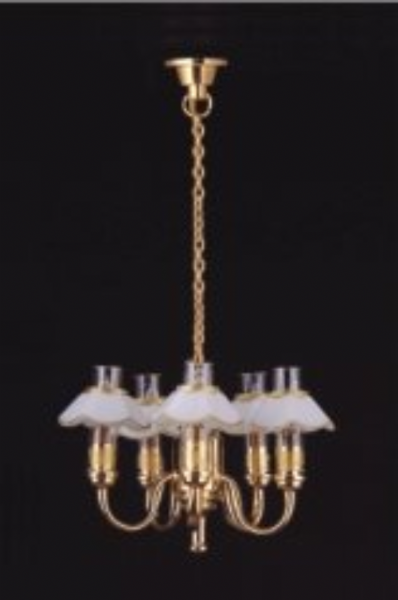 5 arm miniature chandelier. Dolls House LT 6027